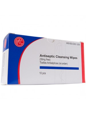 Antiseptic Wipes, 10 pieces/box