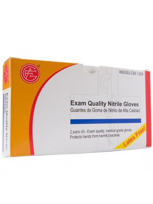Nitrile Gloves,  (latex free), 2 pair per box