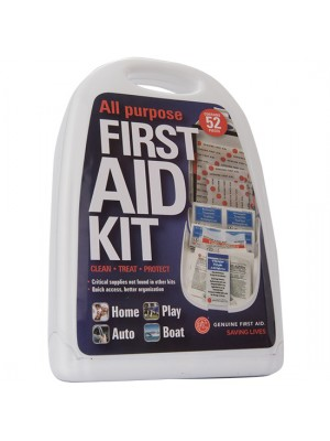 52 Piece Hard Sided All Purpose First Aid Kit