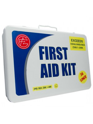 36 Unit Unitized Metal ANSI First Aid Kit