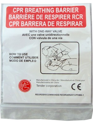 CPR Face Shield with Oneway Valve