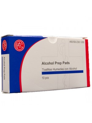 Alcohol Prep Pads, 10 pieces/box