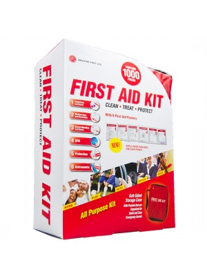 1000 Piece Soft Sided First Aid Kit