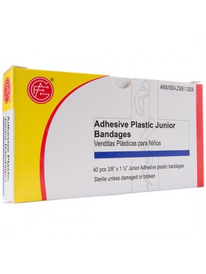 "Junior Plastic Bandage, 3/8"" x 1.5"""