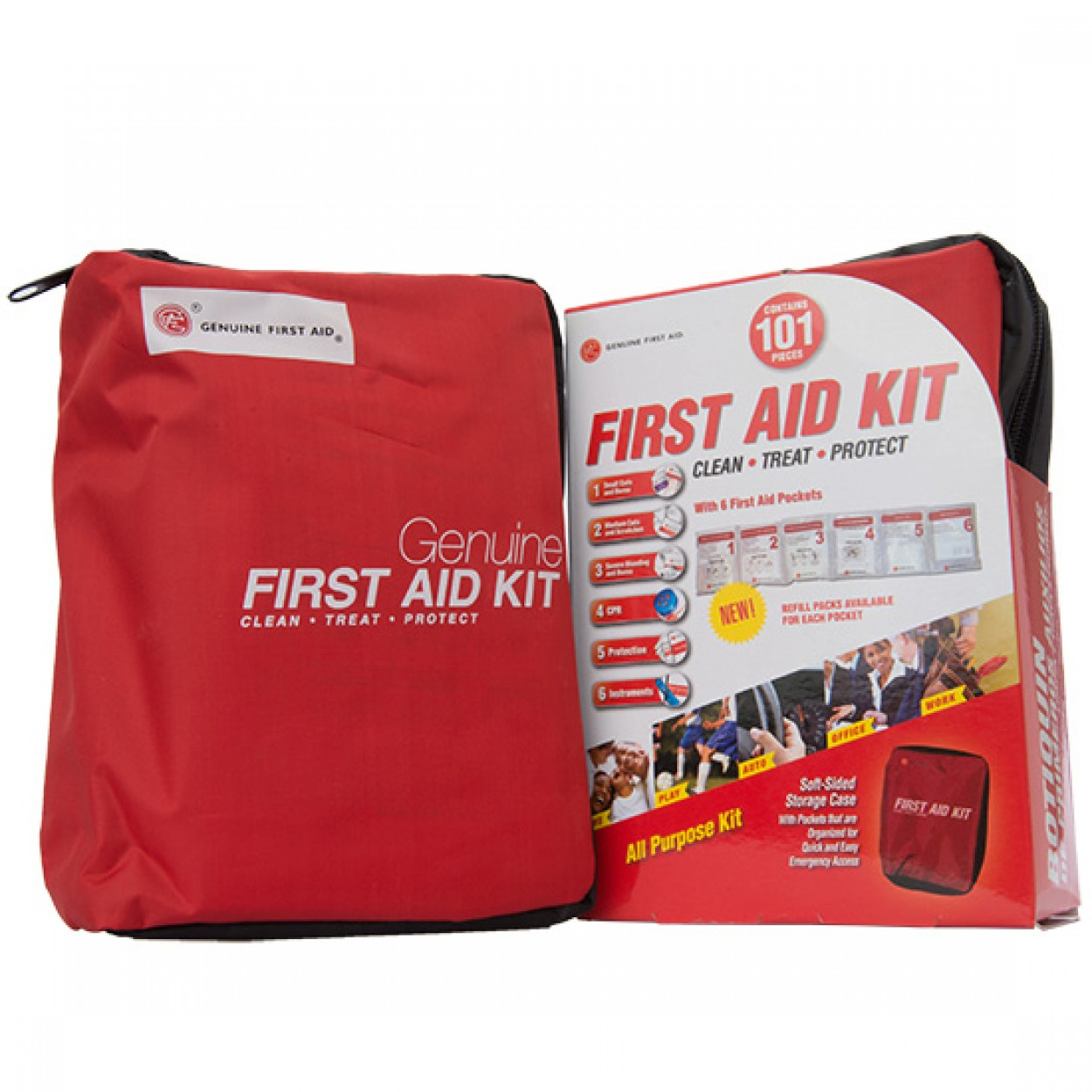 101 Piece Soft Sided First Aid Kit Multi Purpose First
