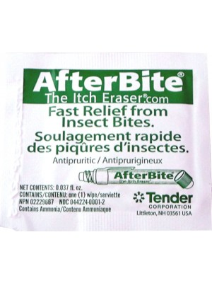 Insect Sting Relief Wipes, 10/Bag