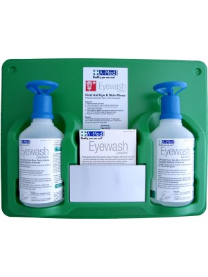 A-Med Eyewash Station (2) 16oz w/eye-opener