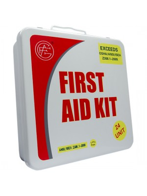 24 Unit Unitized Metal ANSI First Aid Kit
