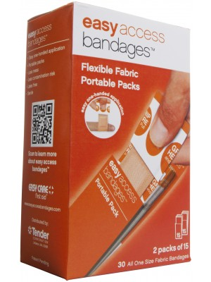 """Easy Access Bandages® Fabric, 1"""" x 3"""" Strips, 30 Count"""