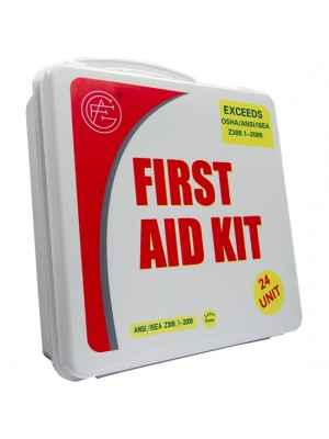24 Unit Unitized Plastic ANSI First Aid Kit