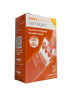 Easy Access Bandages® Fabric, Knuckle & Fingertip, 20 Count