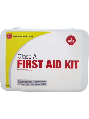 Class A ANSI 16 Unit Metal First Aid Kit