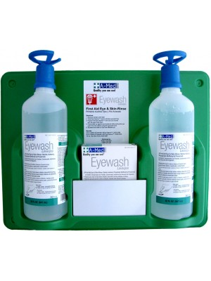 A-Med Eyewash Station (2) 32oz w/eye-opener