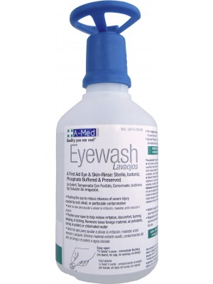A-Med Eyewash 16oz w/eye-opener