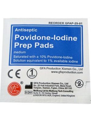 Povidone-Iodine Prep Pads, 10/Bag