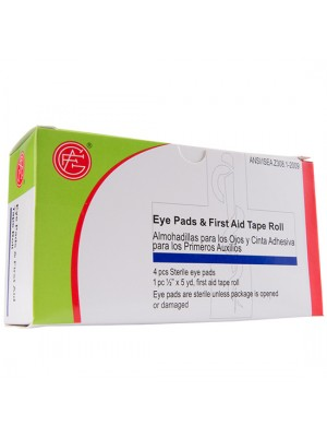 Eye Pad, 4 pcs & Tape Roll