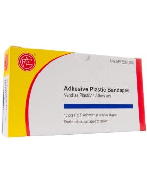 """Adhesive Plastic Bandage, 1"""" x 3"""""""