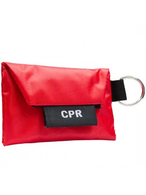 Mini Carrying Case with Key Ring, CPR Barrier & Pair of Vinyl Gloves