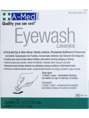 A-Med Eyewash (5)1/2oz Display