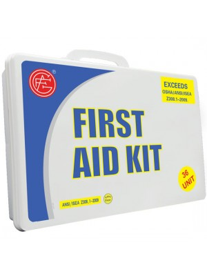36 Unit Unitized Plastic ANSI First Aid Kit