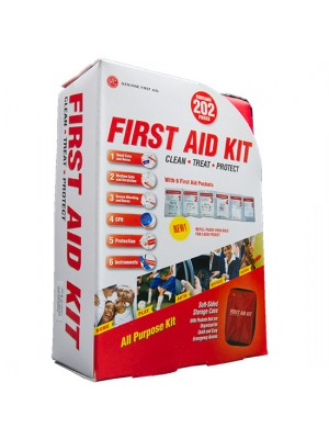 202 Piece Soft Sided First Aid Kit