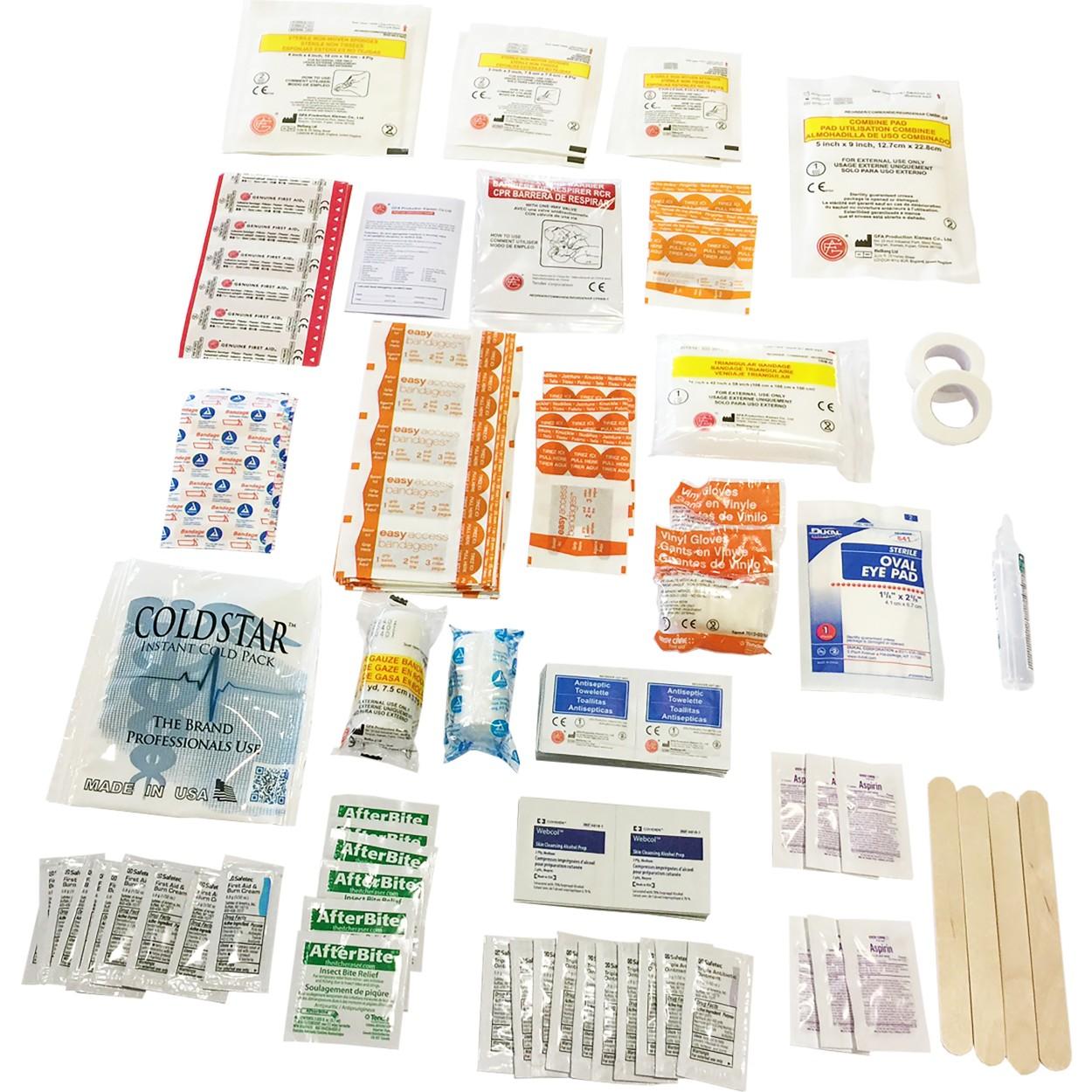 50 Person ANSI 2009 Bulk Plastic First Aid Kit - 2009 ANSI